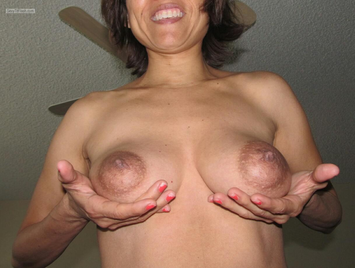 Tit Flash: My Big Tits - Horny Housewife from United States